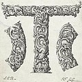 Decorative Letter Type T 1650 by Georgia Fowler