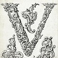 Decorative Letter Type V 1650 by Georgia Fowler