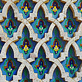 Decorative Tiles On A Mosque by Anthony Dalton