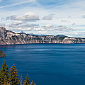 Deep Blue Crater Lake by Steve Pfaffle