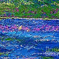 Deep Blue Texture Abstract by Saundra Myles
