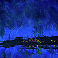 Deep Blue Triptych 2 Of 3 by Charles Harden