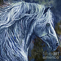 Deep Blue Wild Horse by Angel Ciesniarska