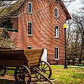 Deep River Wood's Grist Mill And Wagon by Paul Velgos