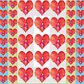 Deeply In Love Cherryhill Flower Petal Based Sweet Heart Pattern Colormania Graphics by Navin Joshi
