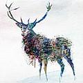 Deer In Watercolor by Marian Voicu