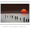Deer Island Sunset Poster by Mike Nellums