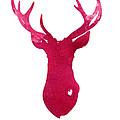 Deer silhouette painting watercolor art print by Joanna Szmerdt