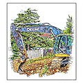 Deere For Hire2 - Excavator - Digger by Barbara Griffin