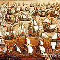 Defeat Of The Spanish Armada 1588 by Photo Researchers