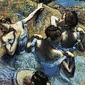 Degas, Edgar 1834-1917. Blue Dancers by Everett