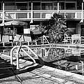 Del Marcos Pool Bw Palm Springs by William Dey