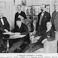 Delegation In London Including  Arthur by Mary Evans Picture Library