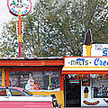 Delgadillo's Snow Cap Drive-in On Route 66 Panoramic by Mike McGlothlen