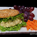 Deli Chicken Salad Sandwich Painterly by Andee Design