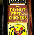 Delicious Chicken Dinners Sign by Catherine Sherman