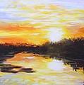 Delta Bayou Sunset by Karl Wagner