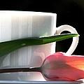 Demitasse And Tulips by Angela Davies