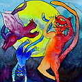 Demon Cats Dance By The Light Of The Moon by Beverley Harper Tinsley