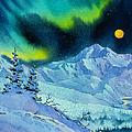 Denali Night In Square by Teresa Ascone