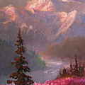 Denali Summer - Alaskan Mountains In Summer by Karen Whitworth