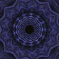 Denim Blues Mandala - Digital Painting Effect by Rhonda Barrett