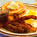 Denny's Grand Slam Breakfast - Painterly by Wingsdomain Art and Photography