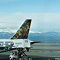 Denver Airport With Rockies In Background by Marilyn Hunt