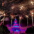 Denver Colorado Independence Eve Fireworks by Teri Virbickis