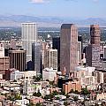 Denver Colorado Skyline by Bill Cobb
