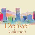 Denver Colorado Skyline II by Loretta Luglio