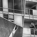 Denver Diagonal Lines Bw by Angelina Vick