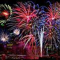 Denver Fireworks Finale by Bob Keller