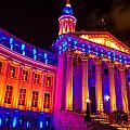 Denver Orange And Blue Pride by Teri Virbickis