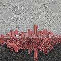 Denver Skyline Abstract 2 by Bekim Art