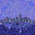 Denver Skyline Abstract 4 by Bekim Art