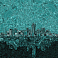 Denver Skyline Abstract 5 by Bekim Art