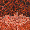 Denver Skyline Abstract 6 by Bekim Art
