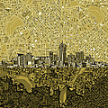 Denver Skyline Abstract 8 by Bekim Art