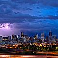 Denver Skyline by John K Sampson