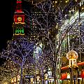 Denver's 16th Street Mall During Holidays by Teri Virbickis