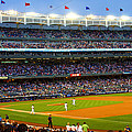 Derek Jeter Leads The Way As The Yankees Take The Field by Aurelio Zucco