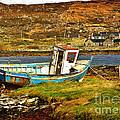 Derelict Fishing Boat On The Irish Coast by Louise Heusinkveld