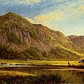 Derwent Water Cumberland by Benjamin Williams Leader
