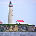 Des-rosiers Lighthouse Is Canada's Tallest In Forillon Np-qc by Ruth Hager