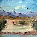 Desert Water Tank by Judi Pence