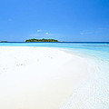 Deserted Tropical Beach And Island In The Maldives by Matteo Colombo