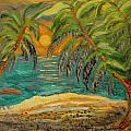 Deserted Tropical Sunset by Louise Burkhardt