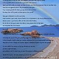 Desiderata On Beach Scene With Rainbow by Barbara Griffin