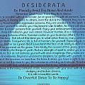 Desiderata On Blue Moon Sunset by Desiderata Gallery
